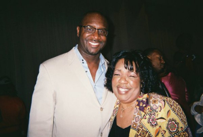 Lady Junn with the hilarious Tyler Perry Producer Roger Bobb