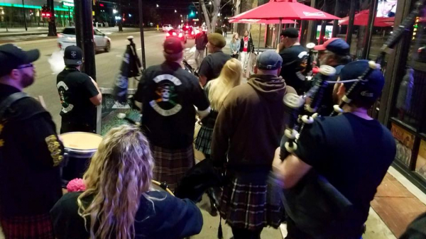Bagpipes and drums on the streets of SLC