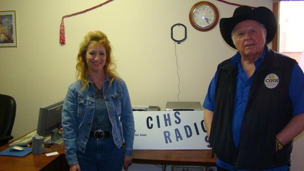 With Jay Compton at CIHS Radio 93.5FM Wetaskiwin ,AB