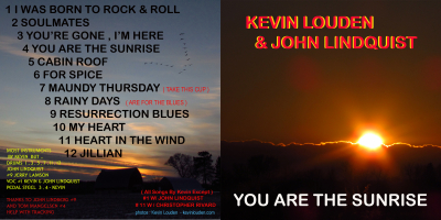 YOU ARE THE SUNRISE CD - $7.00 downloads