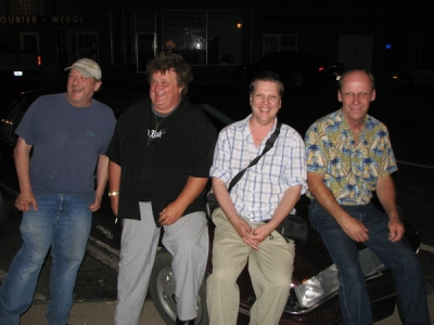 <p>DAN CALLEN , DUANE NELSON ( NEW 'DO' )  YOURS TRULY  AND THE GREATEST COUNTRY DRUMMER ALIVE   BOB HOVDE </p>