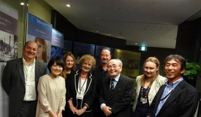 <p> With Irish Ambassador and poets for Yeats Day in Osaka.</p>