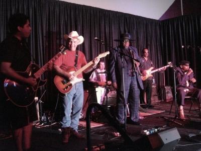 Chris Thomas King & Tabby Thomas  jammin with the APBBand in Baton Rouge.