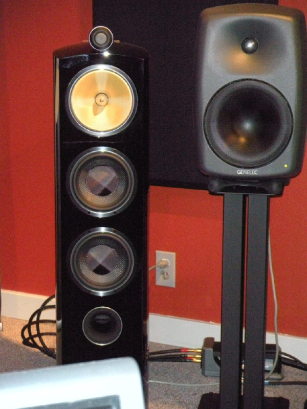 Bowers & Wilkins 804 Diamond speakers with CLASSE amplifiers,  and GENELEC 8050 Active speakers  Mixing and Mastering monitors