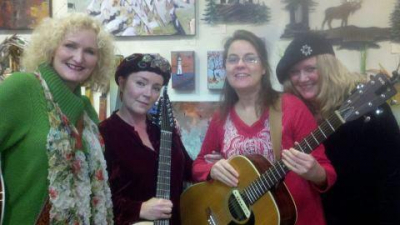 """<p>"""" Ladies of the Lake"""" - from left to right: Mary Lou Williams, Gina Lee, Jane Keyport Aas, and Rose Hoene</p>"""