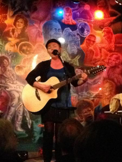 <p>Performing at my CD Release Party at Beaner's Central Concert Coffee House</p>