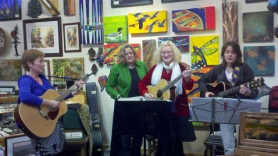 """<p>""""Ladies of the Lake"""" performing at the Blue Lake Gallery</p>"""