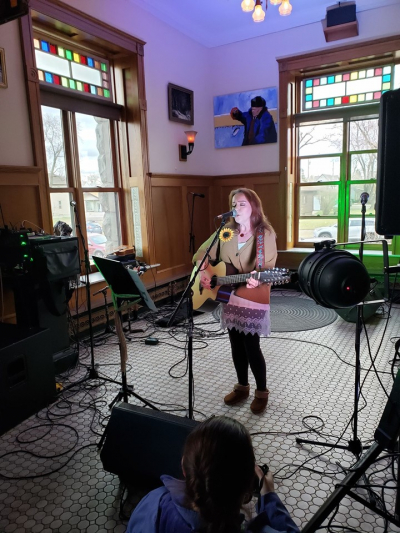 Playing originals at the 2019 Homegrown Music Festival in The Spirit Room