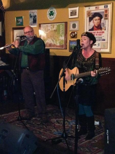 <p>Performing at Carmody's with David Craig on flute.</p>