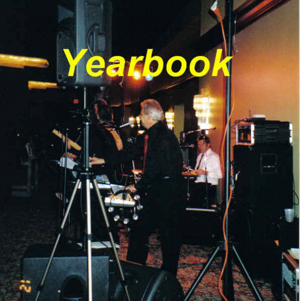 YEARBOOK Promo photo taken at a wedding at the IX Center