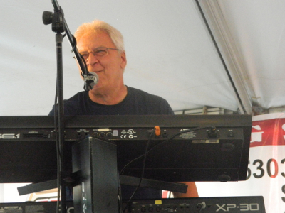 Joe playing at the Brunswick Summer Celebration 2014