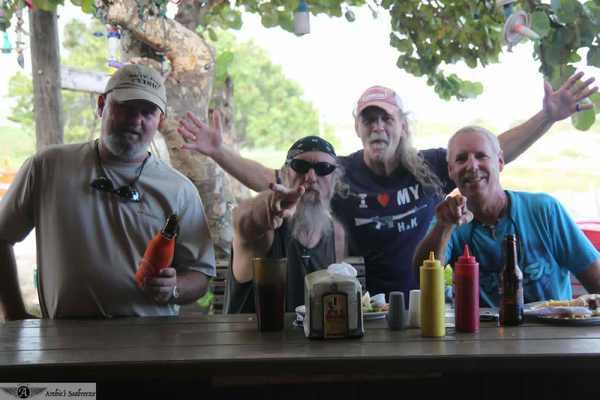 Paul,Mangrove, Chuck, and Gary