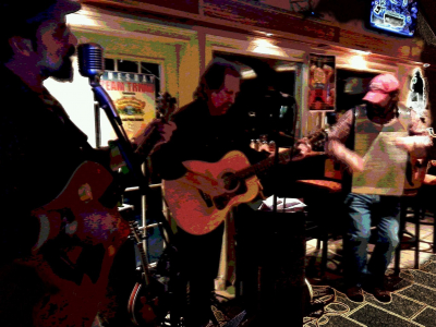 With Dan Spinner on washboard