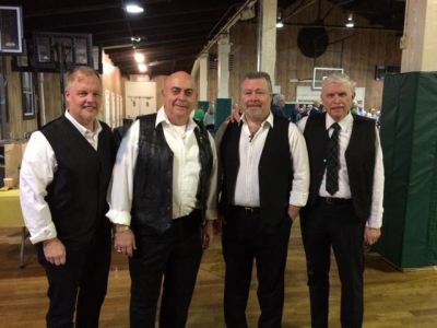TOMMY WITH CELTIC JUSTICE: TEDDY HURLIHY, MUGGSY DALY, TOMMY, SEAN QUINN