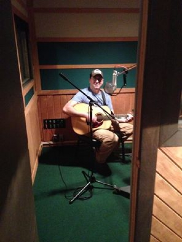 Recording first solo album at Fame Studios in Muscle Shoals, AL