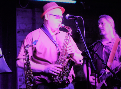 Lee Berman on SAX, Pat Painter on Lead Guitar