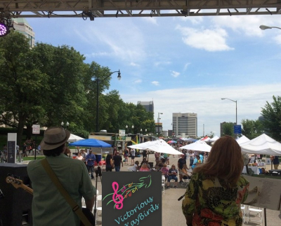 Stage view of the Columbus Food & Wine Festival June 2019
