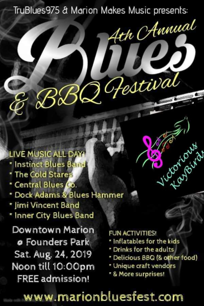 Marion Ohio Blues Festival added a stage, and us!