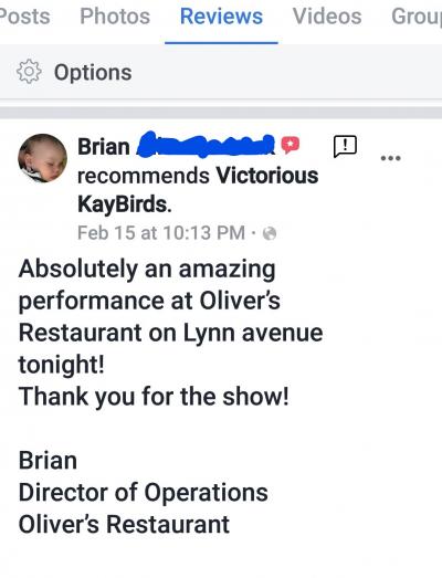 We appreciate that they appreciate!