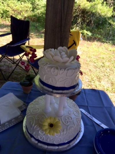 Carol and Steves Wedding 5-23-15 The Cake Was Awesome!