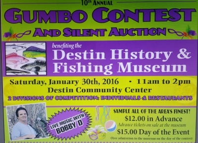 Benifit for Destin History & Fishing Musem 1-30-16