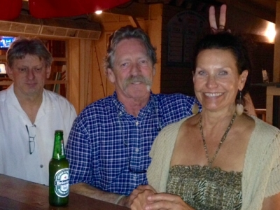 Diki Ross, Mike Turner, Judy D at Anglers 5-8-15