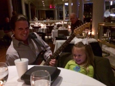 My newest little fan Stella  at The Ocean Club
