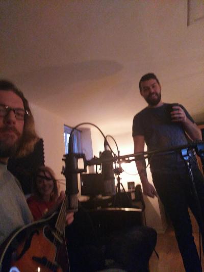 Recording some mandolin for Ian Raeburn!
