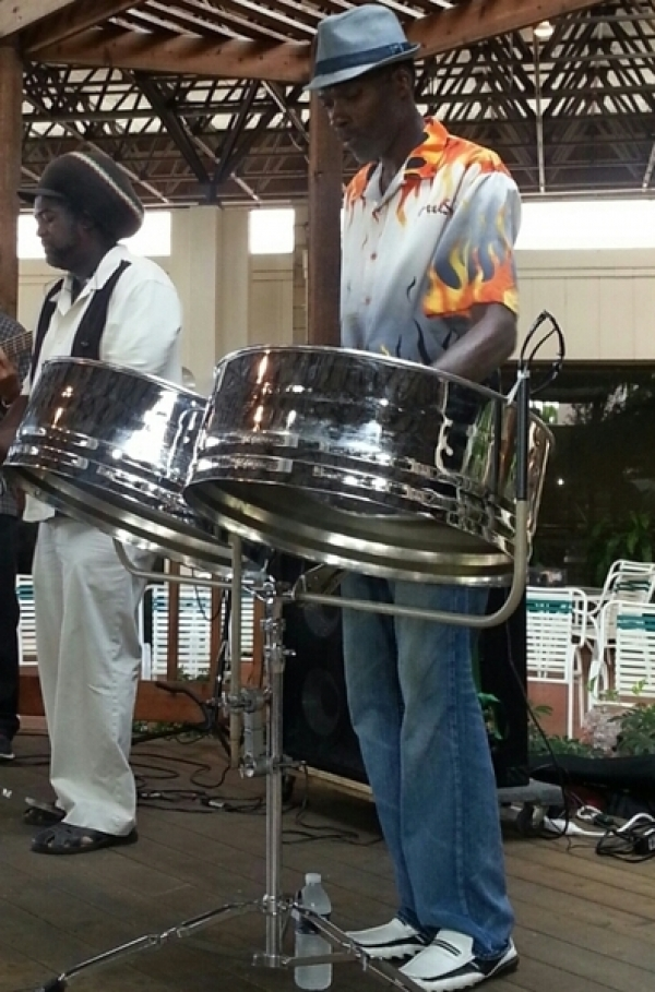 Cruzanvibes (George) Bassist & Vocalist & Steeldrum player - Don - Keyboard, Vocalist & Steeldrum player.