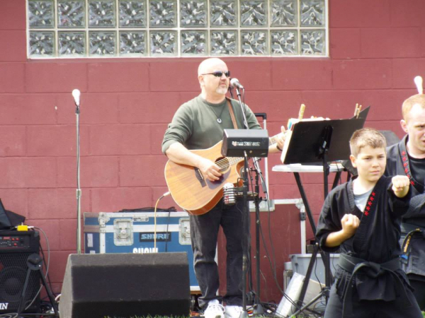 Performing at Art In The Park in Mooresville, IN.