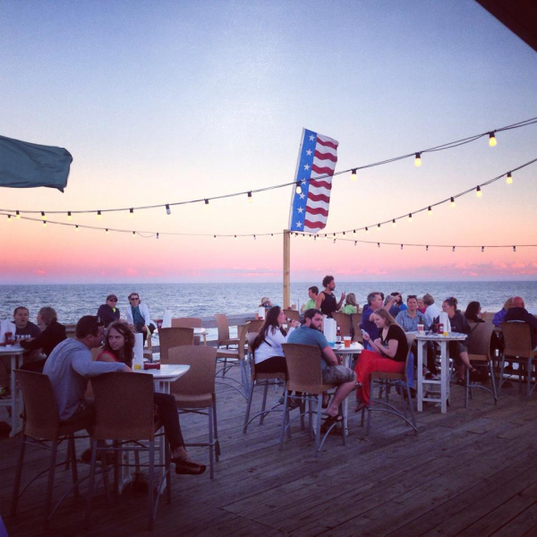 My view while performing in Nags Head, NC. right on the Atlantic Ocean
