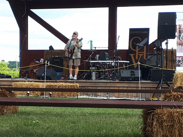 Performing at Cooper Hawk Winery in 2018