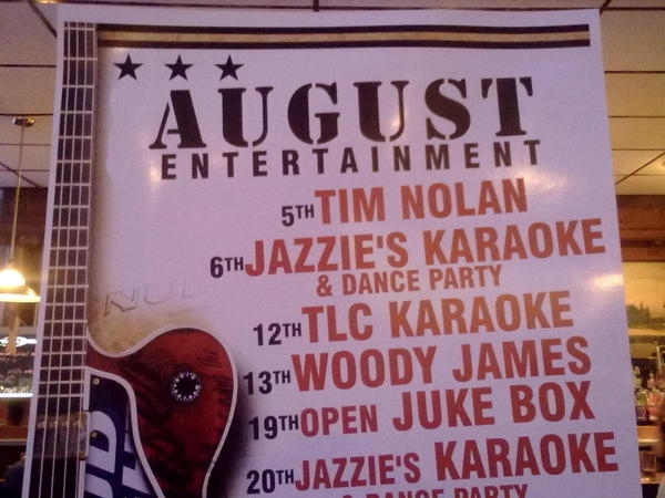 Heading up the August entertainment at Olde Tyme Inn