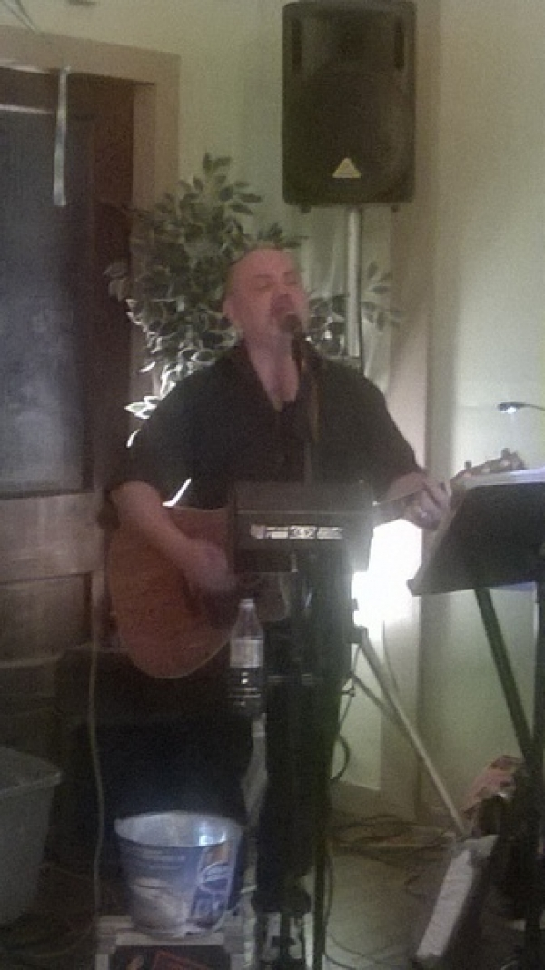 Performing at Uncle Monkey's Picnic Grand Opening in Greenfield, IN
