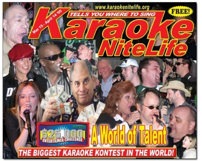 On a Karaoke magazine cover in Chicago! (bottom right corner)