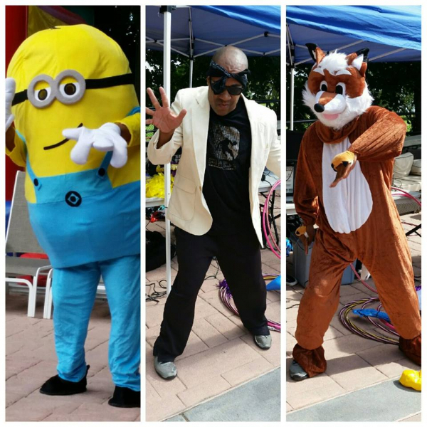 My impression of a minion, what did the fox say, and Bruno mars with no hair lol