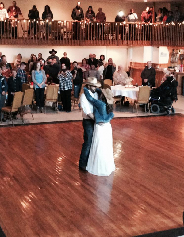 Awesome wedding First dance country theme and I do know my country music lol