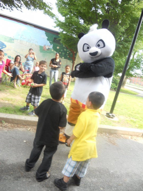 Had to dress up as Kungfu Panda  for the kids