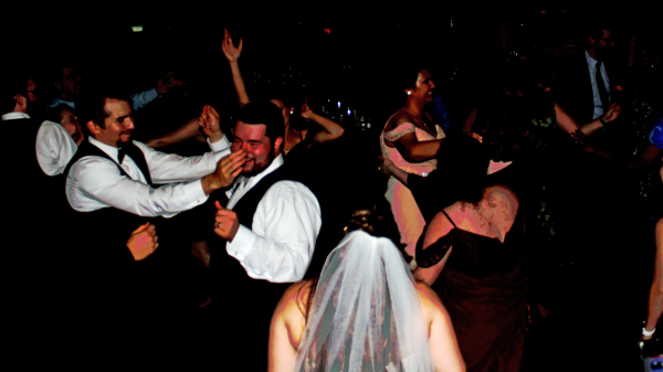 dancing crowd for wedding