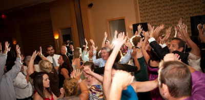 Djing a wedding got get those hands up