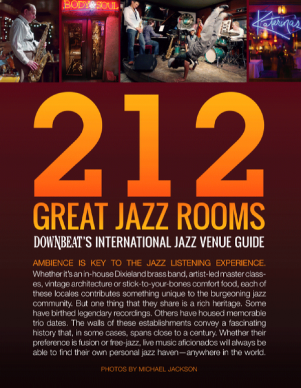<p>&nbsp;The Fox Jazz Cafe, Tampa is listed in Downbeat Magazine's top 212 Jazz Clubs in 2012&nbsp;</p> <p>Check calendar for upcoming shows.</p>