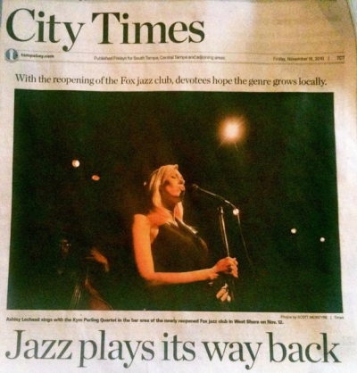 <p>Ashley Locheed at The Fox, The City Times, Tampa FL</p>