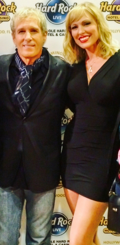 <p>&nbsp;Michael Bolton and Ashley Locheed after show in Hollywood, FL</p>