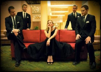 "<p>The Ashley Locheed Quintet -""Mad Men"" party</p> <p>photo credit: Krysten Marlette</p>"