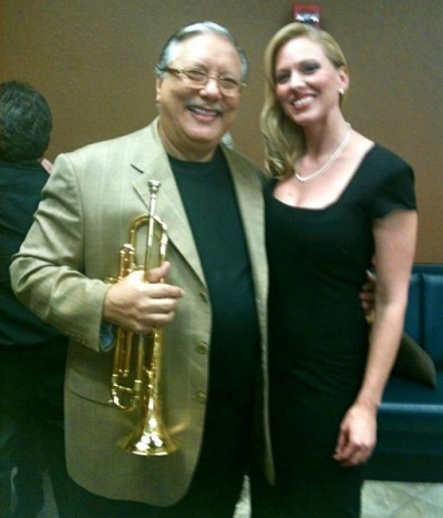 <p>&nbsp;Arturo Sandoval and Ashley Locheed</p>