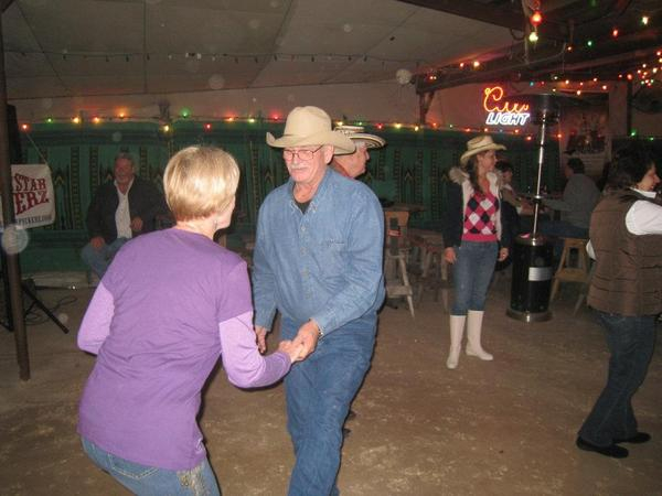 Lester, our future sound Man ( and teen age Palz with Wayne-o) cuttin a rug in Bandera at 11th Street Cowboy Bar (that poor unnamed lady) dancing to the LONE STAR PICKERZ.   LESTER!!! Get back to workin SOUND!