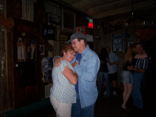 Cheri & Barry.....They met at Texas 46 in 04, fell in love dancing to our band. Then, when the wedding bells rang, we played for the reception...they are STILL dancing at Texas 46 and still in LOVE 3 years later!