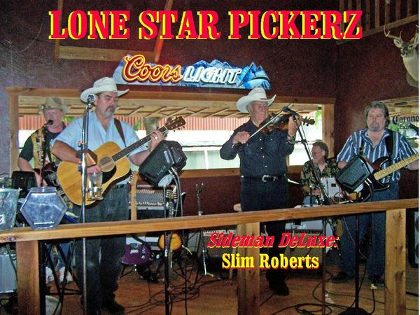 LOOKING BACK!!!  We had the privilege of having Mr. Slim Roberts...one of AMERICA's brightest talents on vocals and his fine fiddle play some gigz with us over the years!  Past bands? TEX RITTER in the late 40's! Last Band? SLIM ROBERTS and TEXAS WEATHER