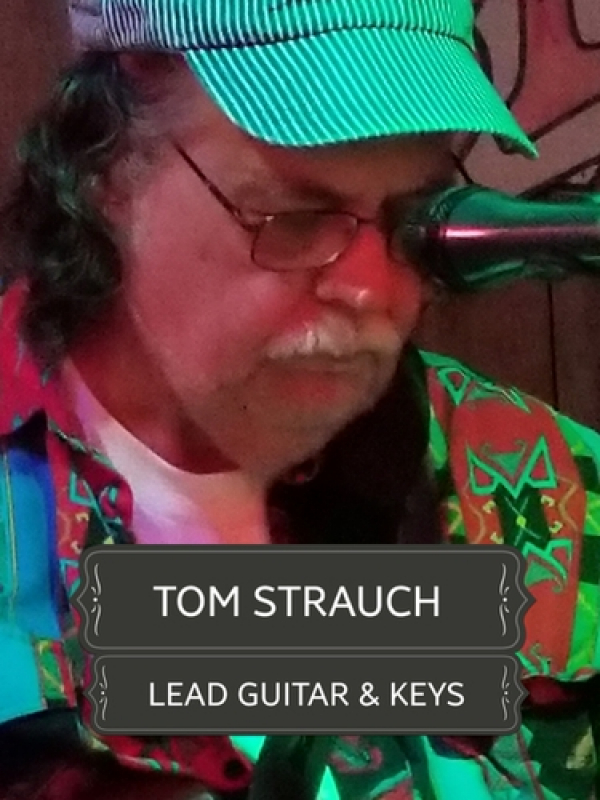 Tom is not only a fine Country guitar picker, he added keys several years ago playing in the Geronimo band and that adds so much!  He also supervises our technical set-up as he is a Chief Engineer at a local TV station in his day gig. This boy SINGS GREAT
