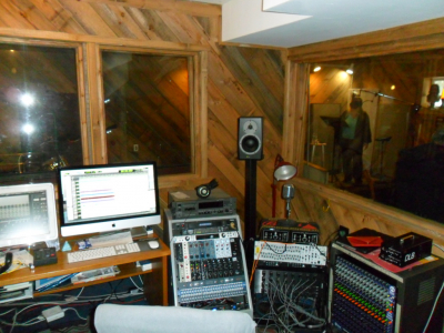 Rusty Annis Engineer/ Control Room Shoestring Studios in Massachusetts